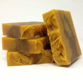 "Autumn Leaves<br><small><font color=""#B31B1B""> Pumpkin Spice Bar</font></small>"